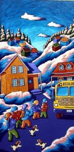 """L'arrêt d'autobus (40"""" x 20"""")"""