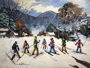«En ski» 30 x 40