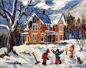 «Bonhomme de neige» 16 x 20