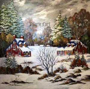 Lumière hivernale - 40 x 40