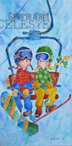 On va au Snow-Park - 24 x 12