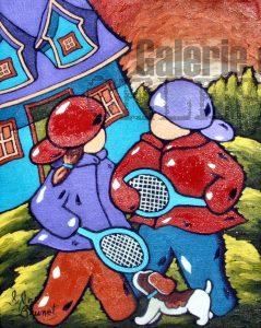 Tennis entre amis - 10 x 8